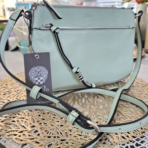 VINCE CAMUTO LEATHER MINT CROSSBODY